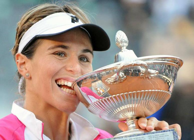 María José Martínez, con el título ganado en Roma
