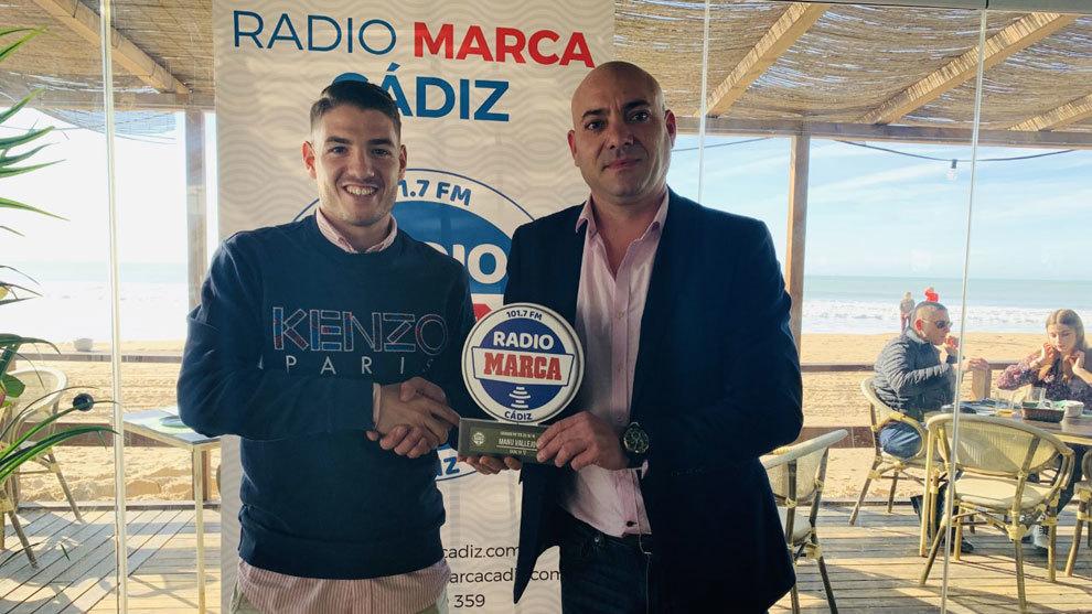 Manu Vallejo y Miguel Sánchez, gerente de Grupo Potito.