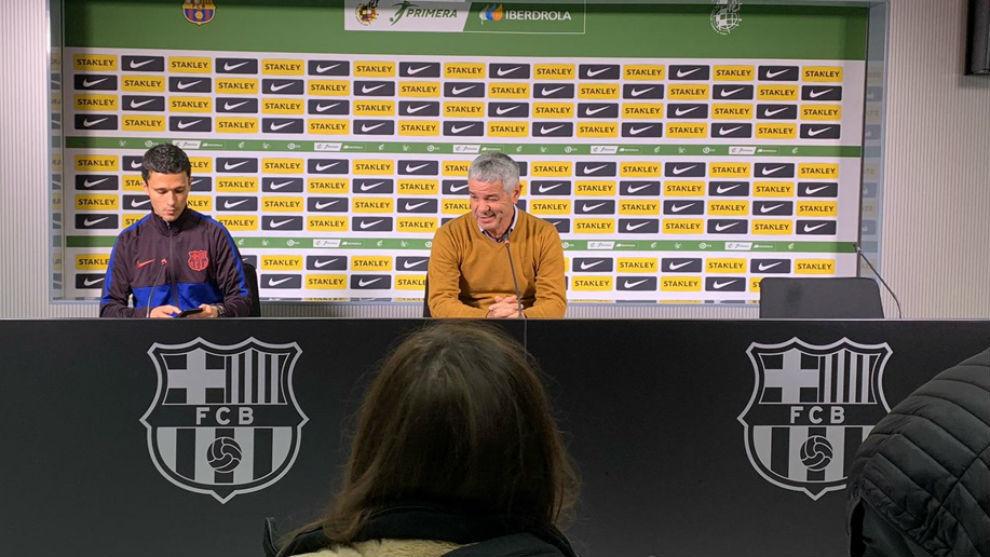 David Amaral en rueda de prensa en el Estadi Johan Cruyff de...