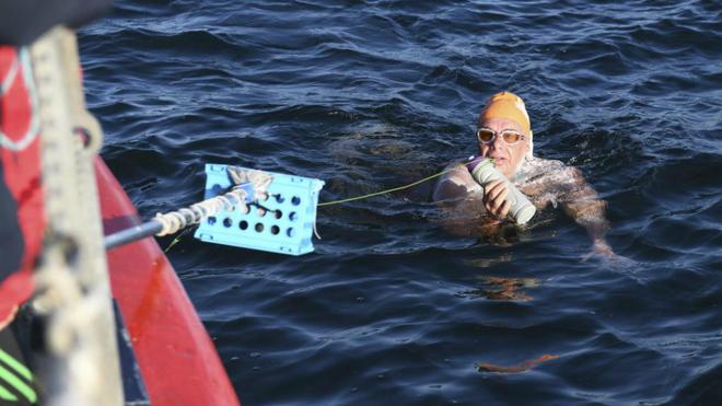 Jorge Crivillés durante una de sus travesías oceánicas este mismo...