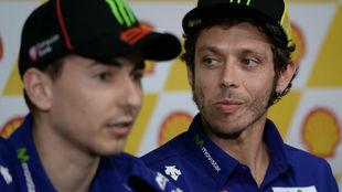 Lorenzo y Rossi, en el GP de Malasia 2015