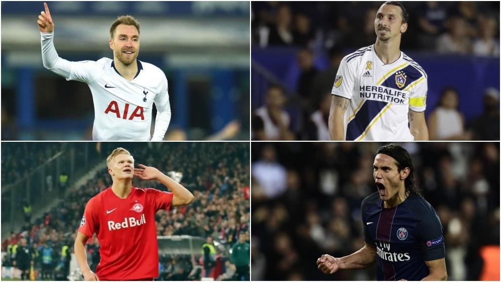Eriksen, Ibrahimovic, Haaland y Cavani agitan el mercado