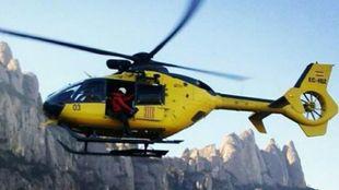 El helicóptero encontró el cuerpo del barranquista en el barranco de...