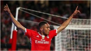Vinícius celebra un gol contra el Famalicao.