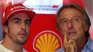 Fernando Alonso y Luca Di Montezemolo.
