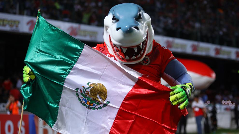 Mascota de los Tiburones Rojos