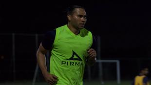 Carlos Peña en su primera práctica con Correcaminos del Ascenso MX.