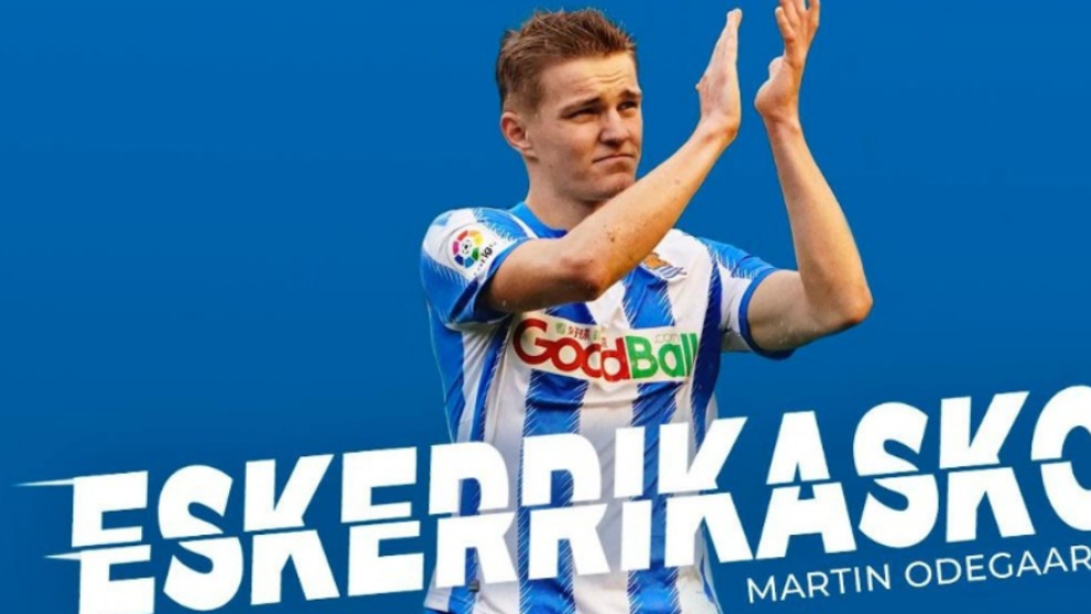 Martin Odegaard signs for Man City in Real Sociedad prank