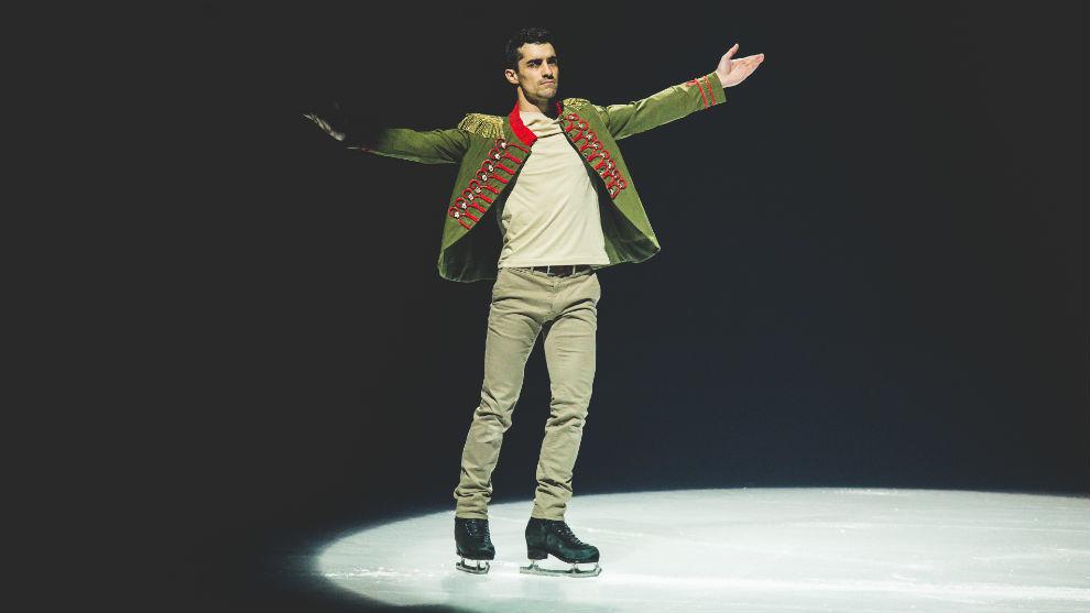 Javier Fernández, durante su actuación en Vistalegre