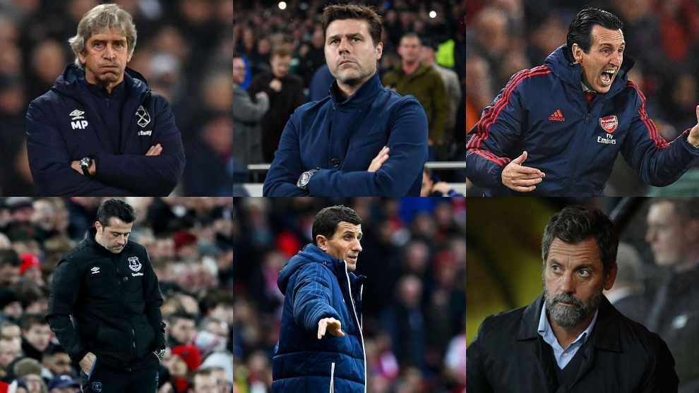 Entrenadores despedidos en la Premier League
