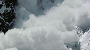 Imagen de una avalancha.