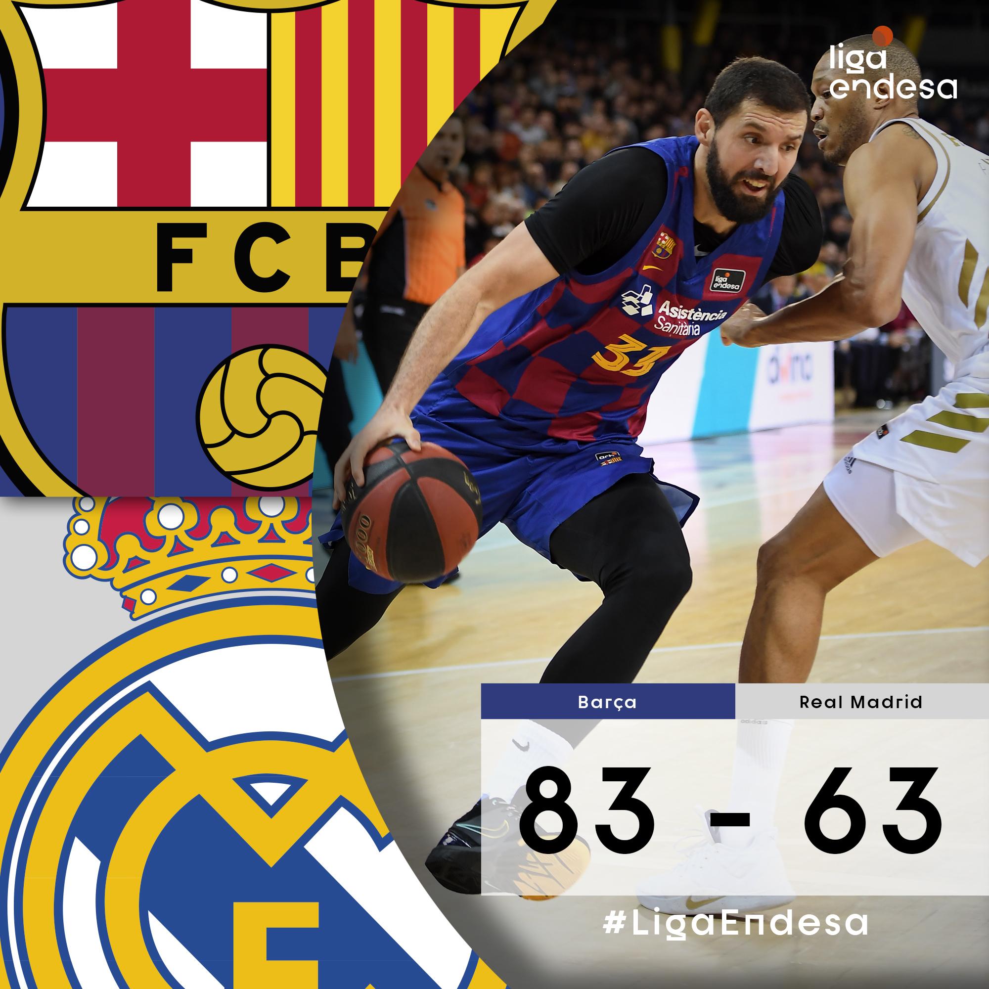Barcelona - Real Madrid: resumen, resultado y estadísticas - ACB Liga  Endesa   Marca.com