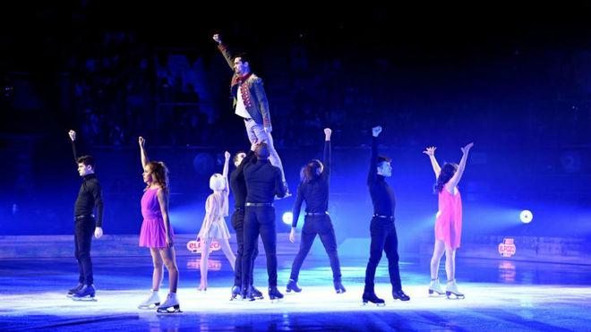Instante del espectáculo 'Revolution on Ice' en Madrid.