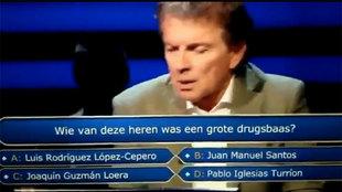Pablo Iglesias, 'sospechoso' de narcotráfico en el '¿Quién quiere ser millonario?' de Holanda