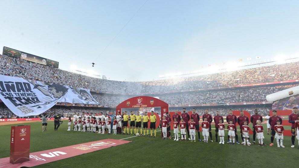 Final de la Copa del Rey de la pasada temporada en el Benito...