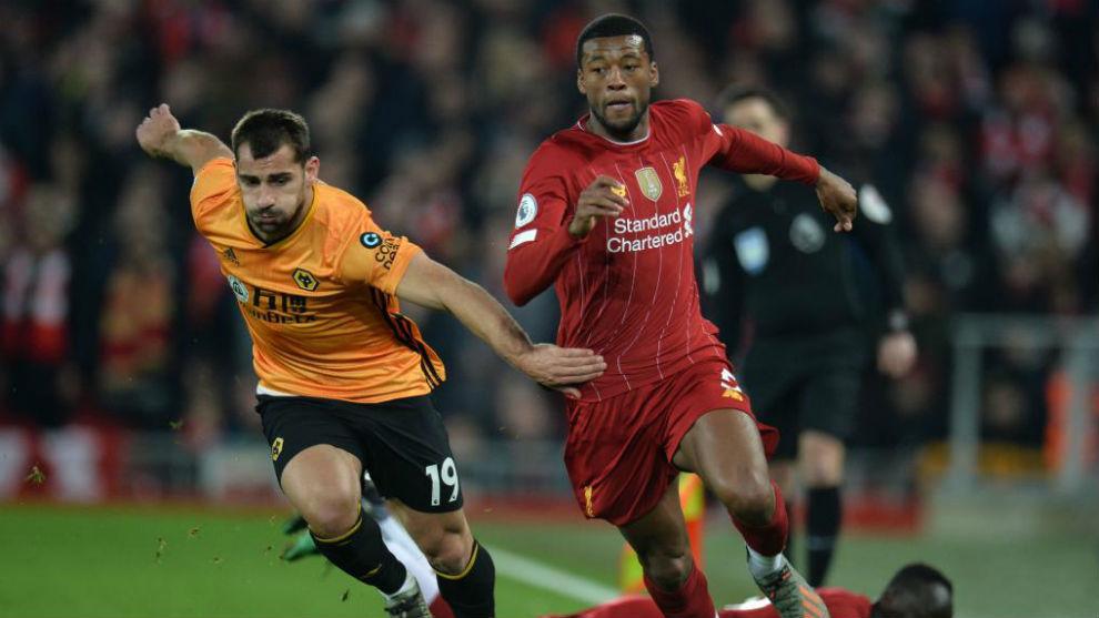 Jonny, en el choque frente al Liverpool.