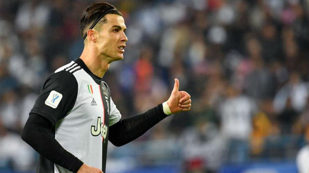 Ronaldo, durante un partido con la Juventus.