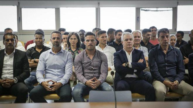 Banquillo de los acusados, durante el juicio.
