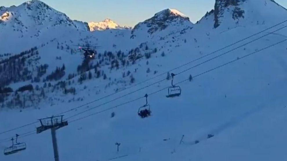 Los esquiadores de Serre Chevalier fueron avacuados por tierra y aire