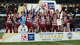 David Villa celebra su último trofeo como futbolista