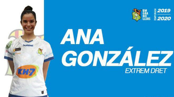 Cartel con el fichaje de Ana González /