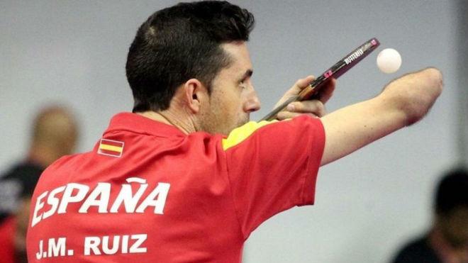 José Manuel Ruiz, en plena competición.