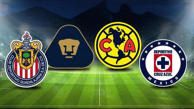 Los cuatro 'grandes' del fútbol mexicano.