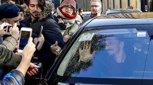 Zlatan Ibrahimovic, a su llegada a Milán.