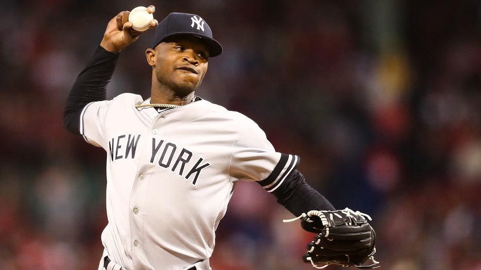 El dominicano Domingo Germán con los Yankees