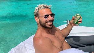 Pizarro, durante sus vacaciones.