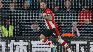 Ings celebra el gol del triunfo del Southampton sobre el Tottenham.