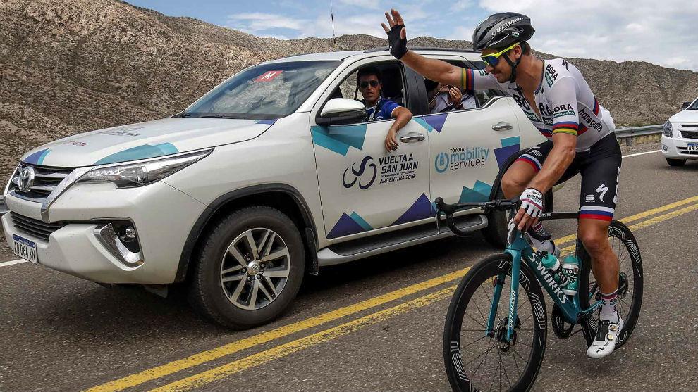 Peter Sagan, entrenando para la Vuelta a San Juan.