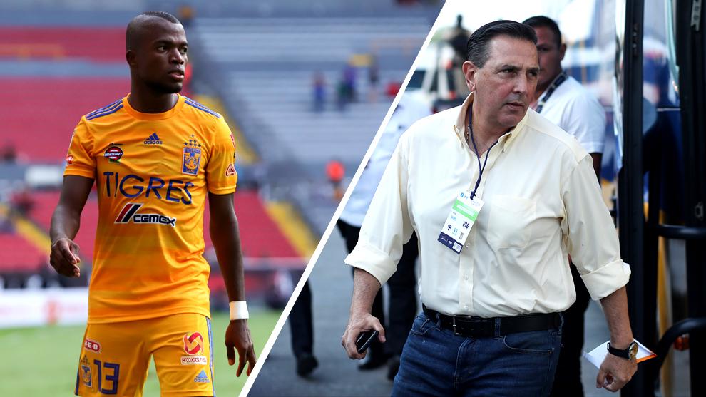 Enner Valencia y Miguel Ángel Garza.