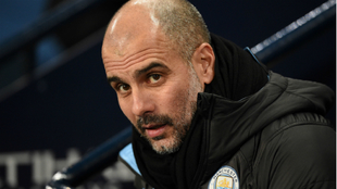 Pep Guardiola, durante un partido con el Manchester City