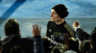 Kroos, en el reciente entrenamiento de puertas abiertas del Madrid en...