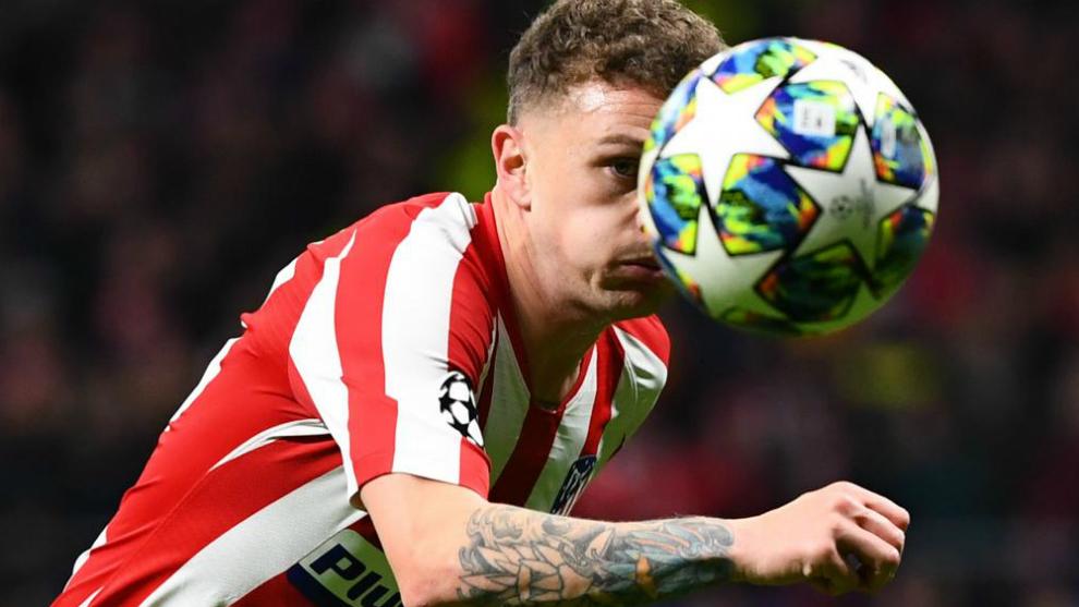 Trippier en un partido con el Atlético de Madrid.
