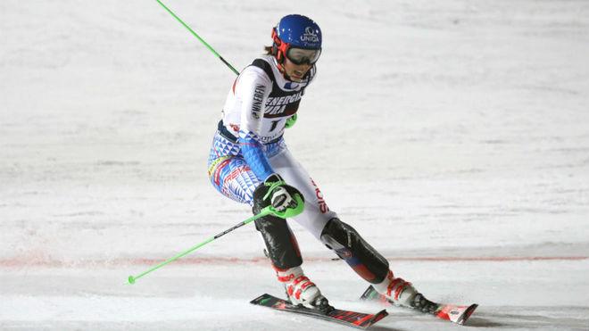 La eslovaca Petra Vlhova, durante el slalom.