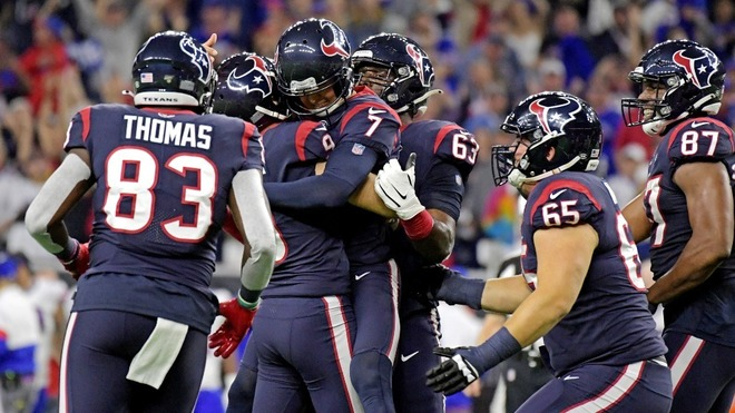 Texanos vienen de atrás y eliminan a los Bills en tiempo extra