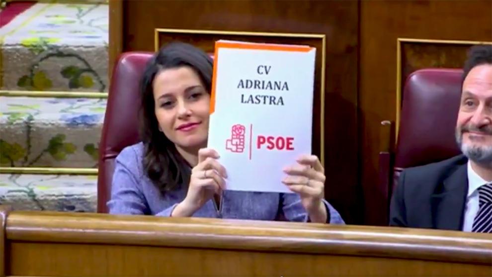 Inés Arrimadas ha protagonizado uno de los gestos más polémicos