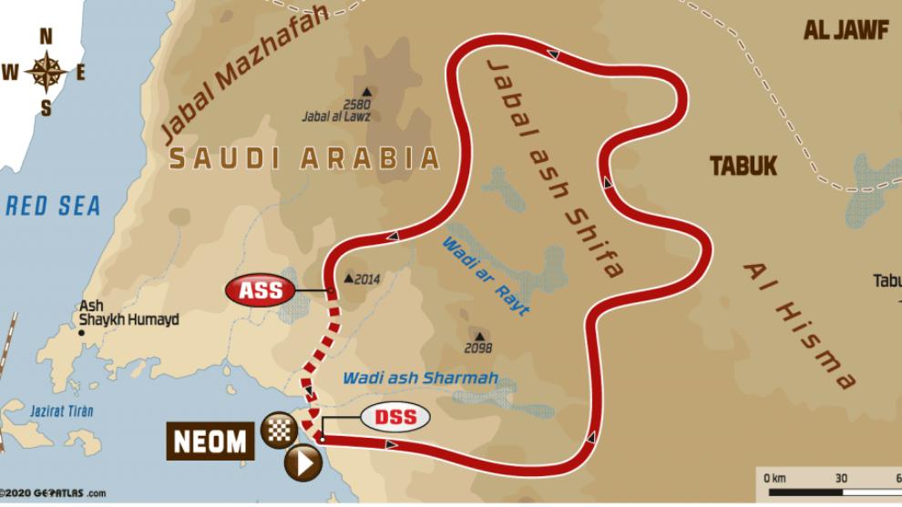 Etapa 3 del Dakar 2020, Neom - Neom: perfil, recorrido, horario y...