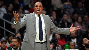 Doc Rivers, entrenador de los Clippers, en el partido ante los...