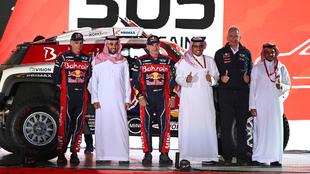 Carlos Sainz durante la presentación del equipo en Bahrein.