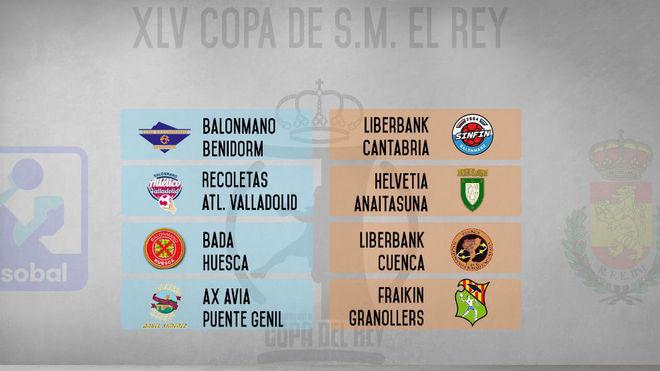 Cartel del sorteo de la cuarta ronda de la Copa del Rey /