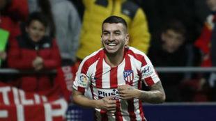Correa celebra su gol al Levante.