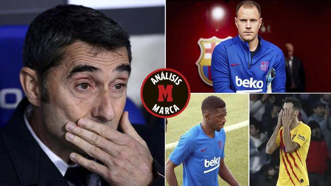 Valverde, Ter Stegen, Dembélé y Busquets