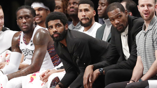 Kyriei Irving durante el partido Nets vs Knicks