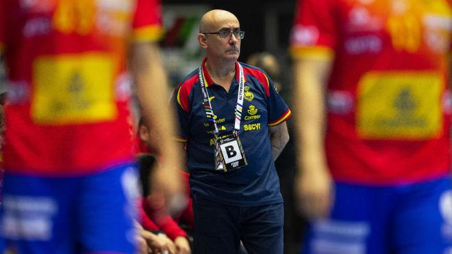 Jordi Ribera, durante un partido de la selección masculina /