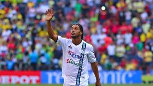 Ronaldinho, en el Estadio Azteca.