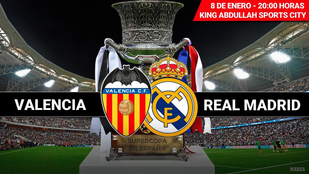 Valencia - Real Madrid: Horario y dónde ver por television hoy la...