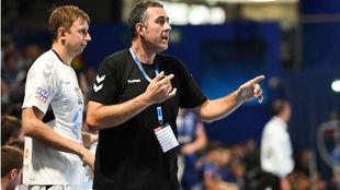David Pisonero, en un partido de la Liga de Campeones con el Vardar /